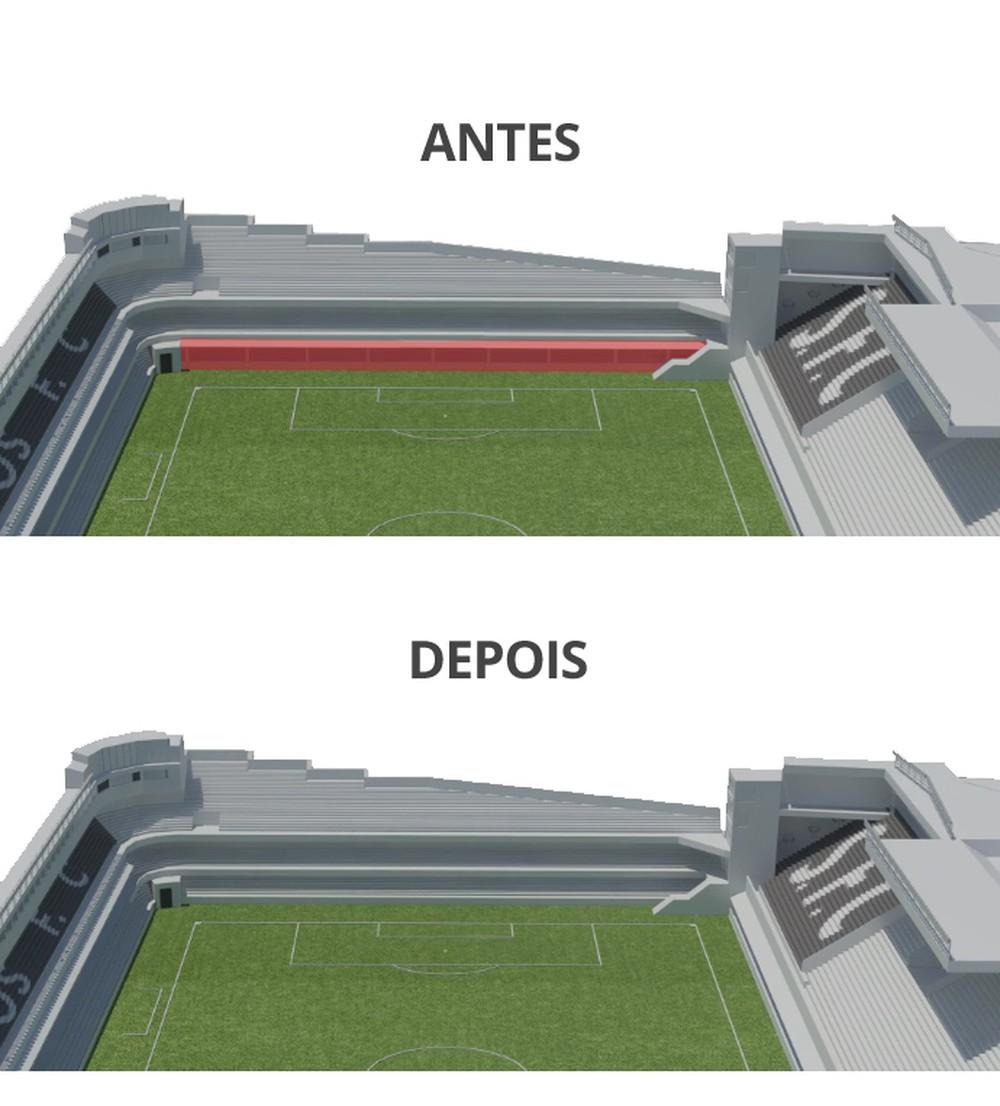 Santos inicia reforma da Vila Belmiro com planos ousados